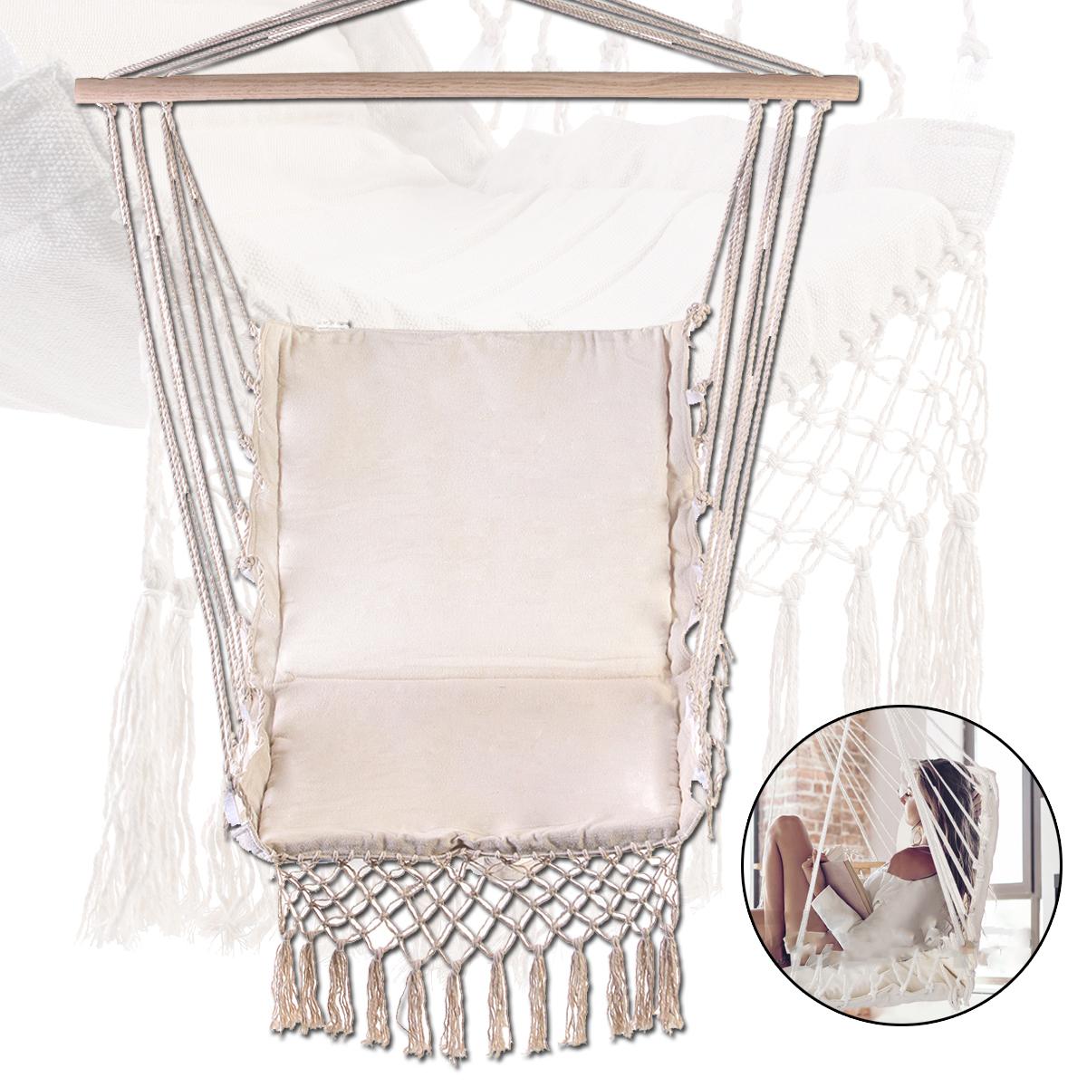 hanging chair home goods discounted office chairs 100x55cm deluxe hammock swing garden outdoor