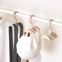 Rotated Storage Rack Bag Hanger Plastic Clothes Rack ...