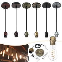 E27 Fabric Flex Ceiling Light Romantic Pendant Lamp Holder ...