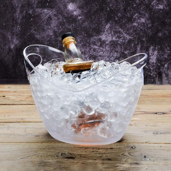 4l Plastic Transparent Garden Ice Bucket Super Large