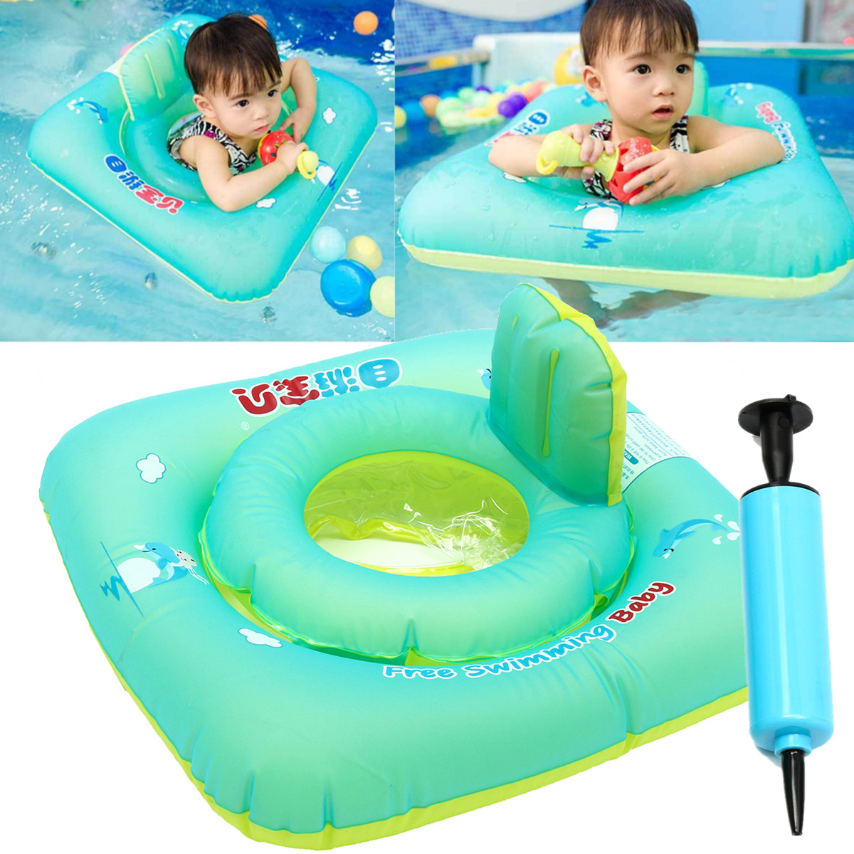 baby blow up ring chair best bean bag chairs for toddlers inflatable swimming pool floats swim ride rings