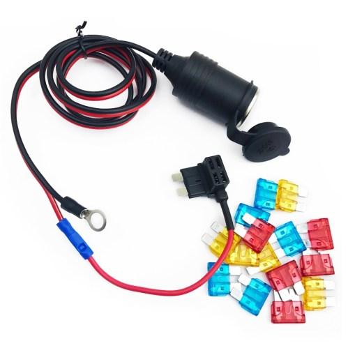 small resolution of 90cm 1mm core car cigarette cigar lighter dc12 24v extension fuse tap holder lead