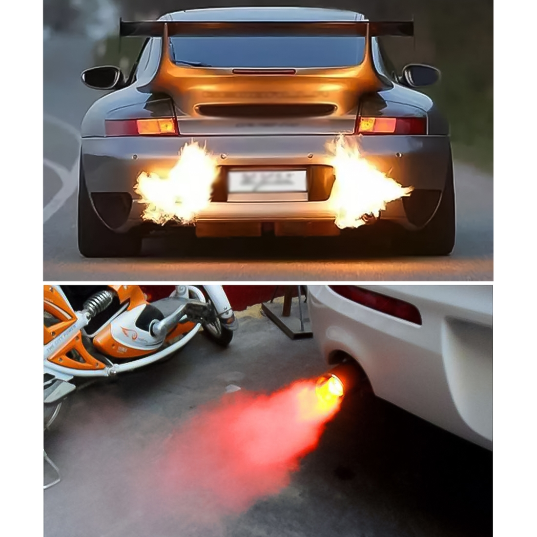 jd 158 car flame thrower super exhaust