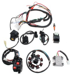 electric wiring harness wire loom cdi motor stator full set for atv quad 150 200 [ 1200 x 1200 Pixel ]