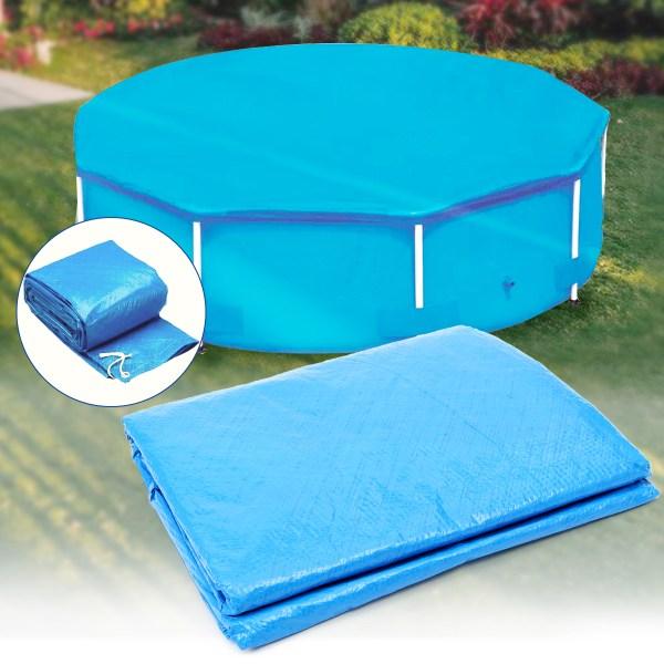 10ft 12ft Diameter Swimming Pool Cover Roller Family Garden Polar Winter