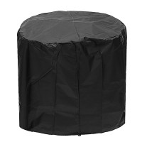 71x53cm Round Fire Pit Cover Waterproof UV Patio Grill BBQ ...