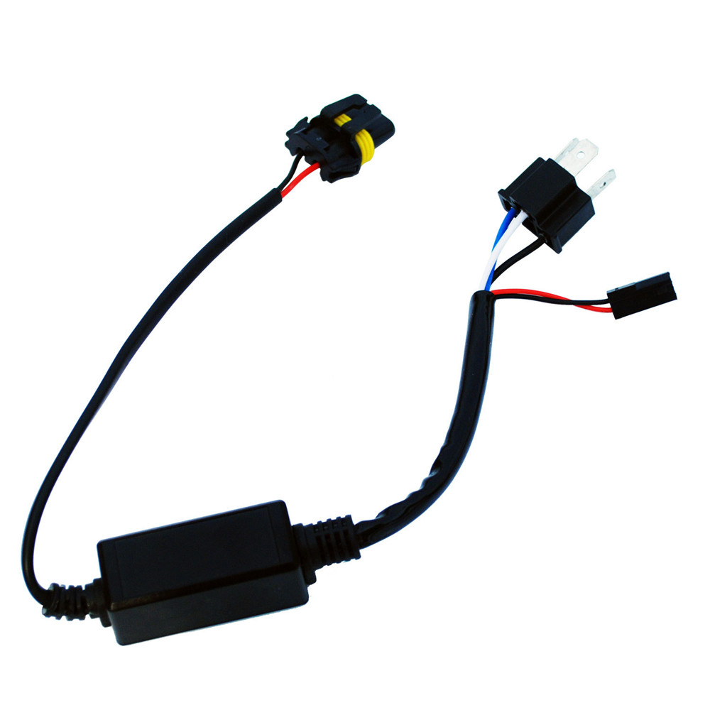 hight resolution of motorcycle h4 headlight telescopic lamp control line high and low lamp hid wiring harness