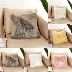 White Fluffy Sofa Cushions Circle Walter Knoll 40 40cm Plush Soft Chair Pillow Case Cushion