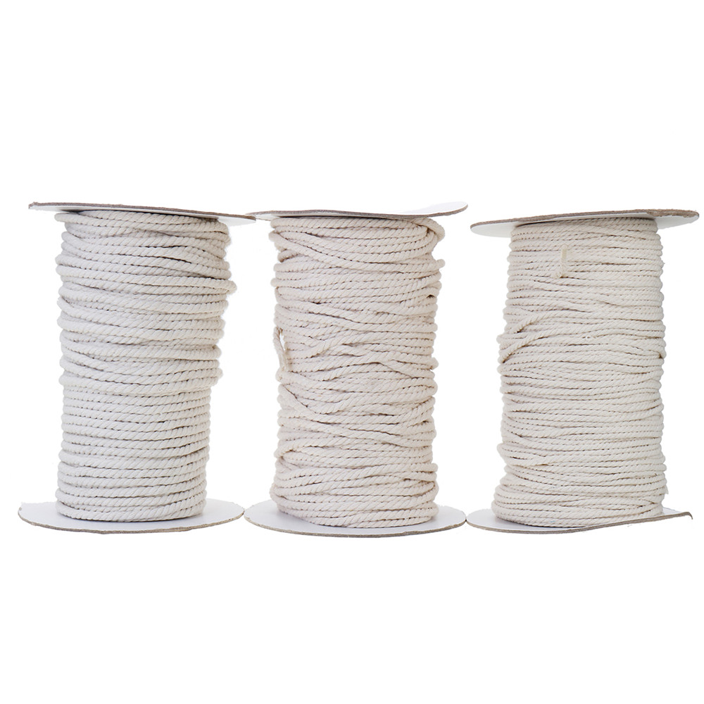 hight resolution of 3 4 5 6mm natural white braided wire cotton twisted cord rope diy