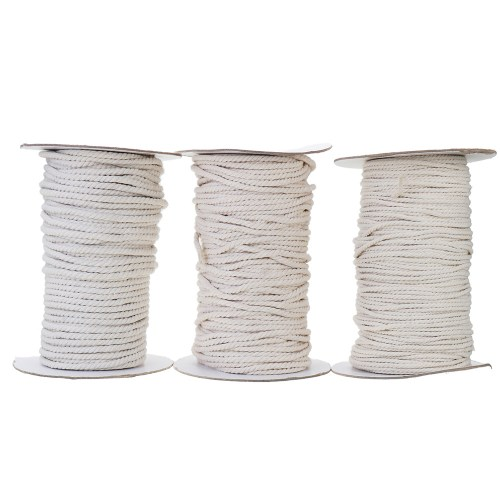 small resolution of 3 4 5 6mm natural white braided wire cotton twisted cord rope diy