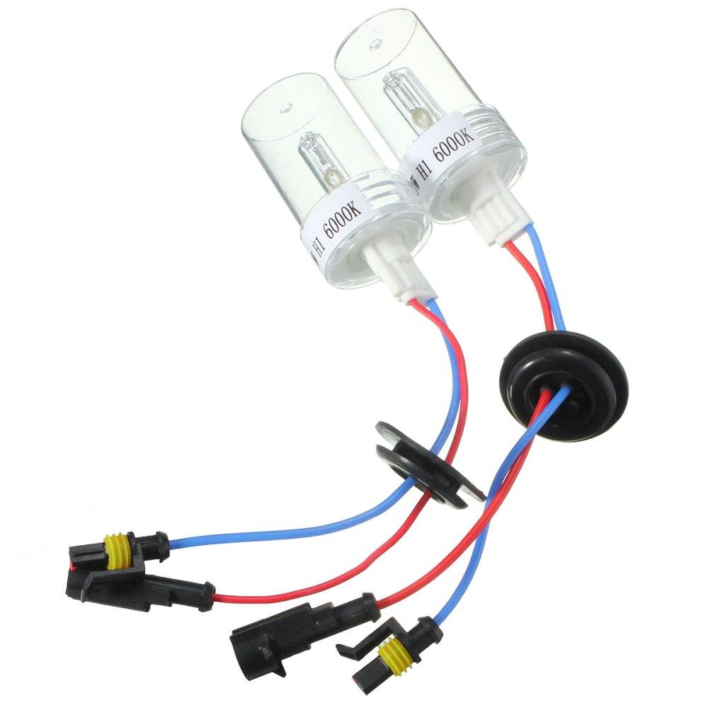 medium resolution of h1 75w car hid xenon headlights bulb dc 12v 4300k 12000k 2pcs
