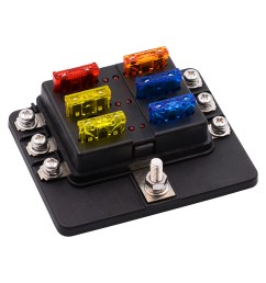 1 in 6 out 6 way circuit fuse box screw terminal section fuse holderfuse box car [ 1100 x 1100 Pixel ]