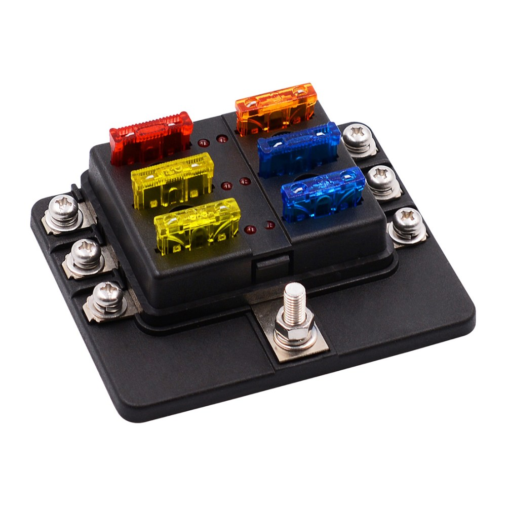 medium resolution of 1 in 6 out 6 way circuit fuse box screw terminal section fuse holderfuse box car