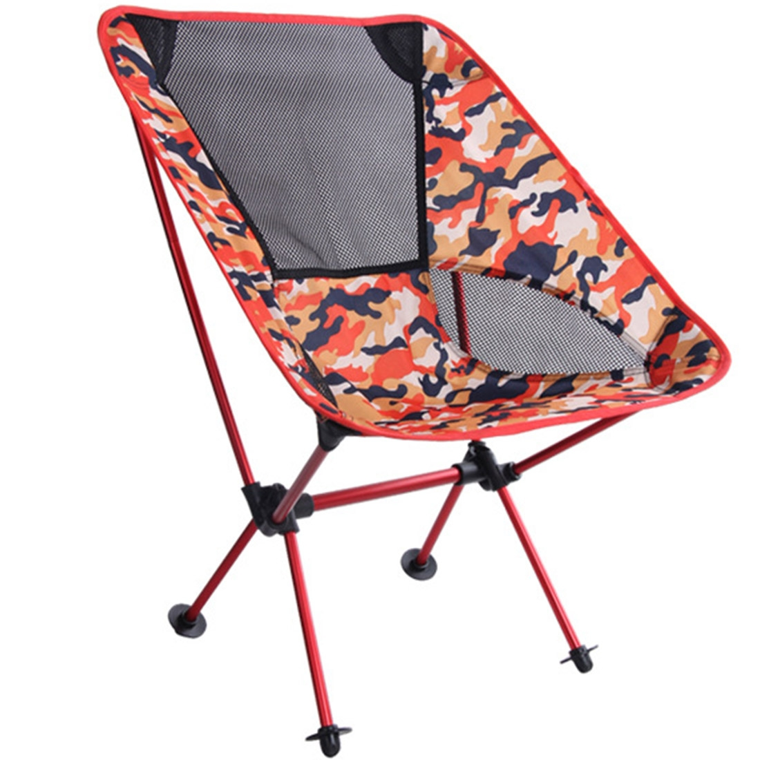 Portable Beach Chair Outdoor Camouflage Portable Folding Camping Chair Light Fishing Beach Chair Aviation Aluminum Alloy Backrest Recliner