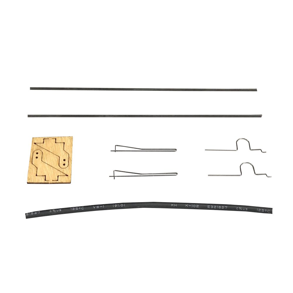 medium resolution of 2x steel wire clamp 2x servo horn 1x heat shrinkable tube