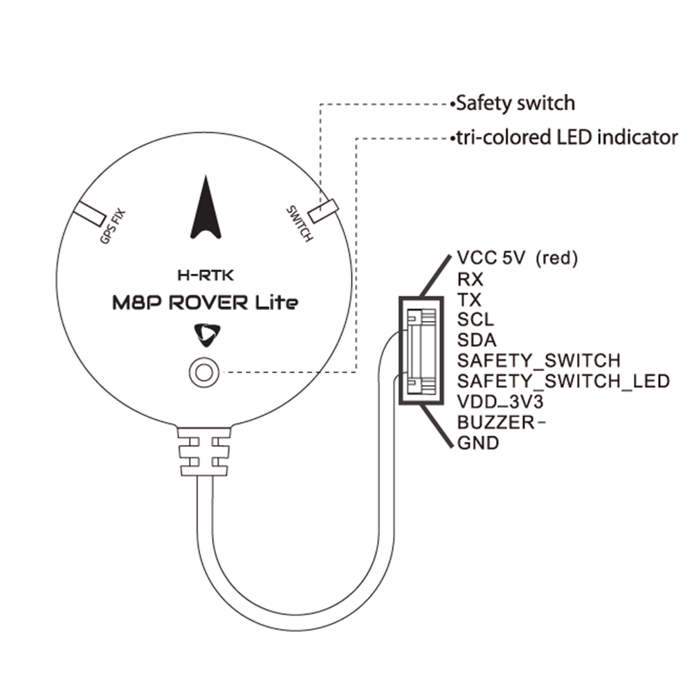 Holybro H-RTK M8P Rover Lite UBLOX M8P GPS GLONASS Module