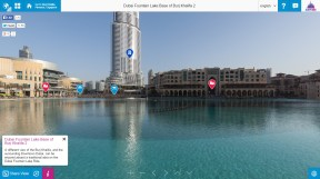 A screenshot image of Dubai's iconic Burj Khalifa from the Dubai 360 site