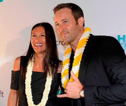 2016 September 23 FTR - HSA Photo by Bruce Asato - Alex O'Loughlin and his wife, Malia Jones on the Red Carpet of the Hawaii Five-0 season 7 kickoff at Sunset on the Beach at Queen's Surf Beach in Waikiki, Friday, September 23, 2016.
