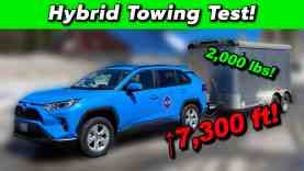 RAV4 Hybrid Towing Torture Test – Will It Survive The Climb??