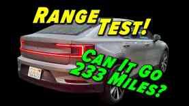 How Far Can It Go? 2021 Polestar 2 Range Test!