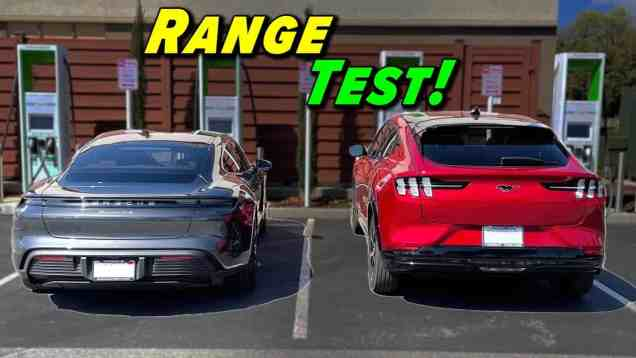 Which Goes Farther? | Taycan vs Mach E Range Test