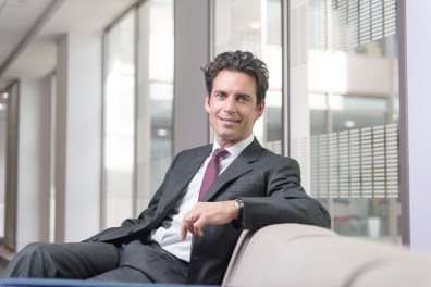 Relaxed corporate portrait london
