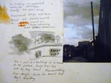 telegraph pole sketch book