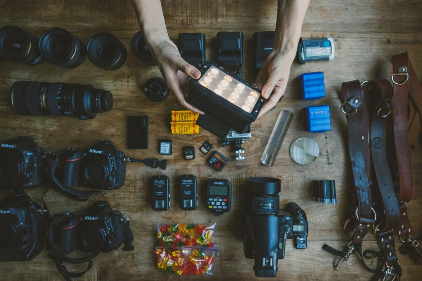 Preparing Photographer Equipment before Wedding Day