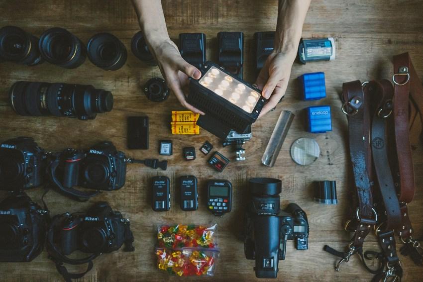 Preparing Photographer Equipment before Wedding Day