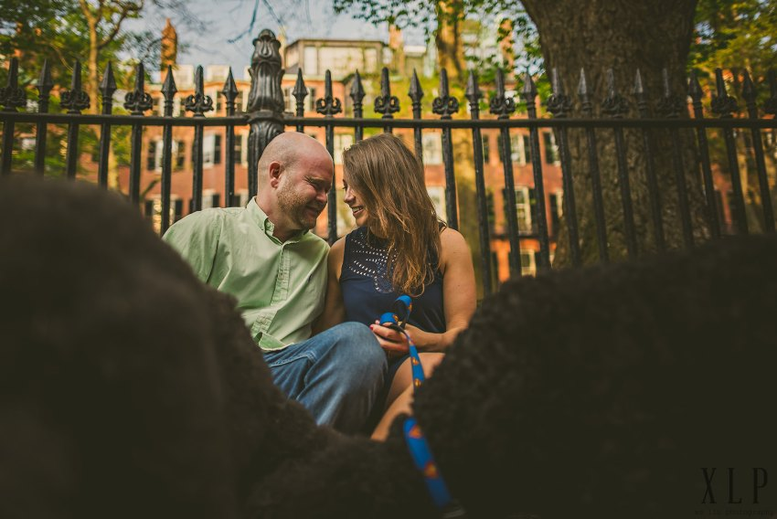couple sitting in beacon hill