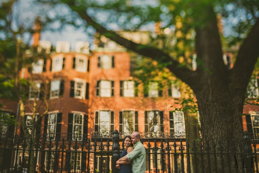 engagement portrait in Louisburg Square