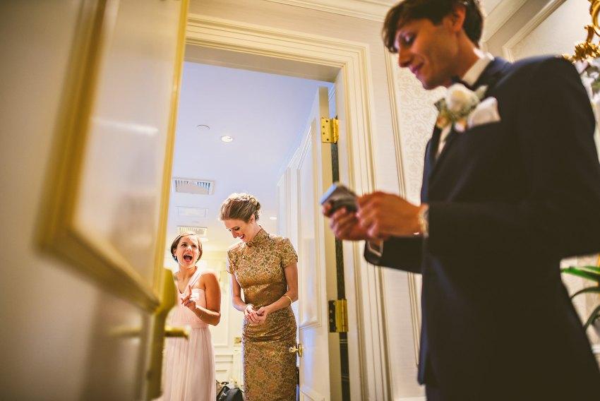 Chinese wedding door games at Lenox