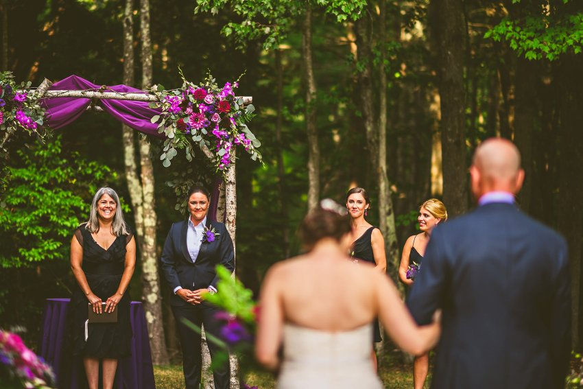 emotional bride processional with reaction