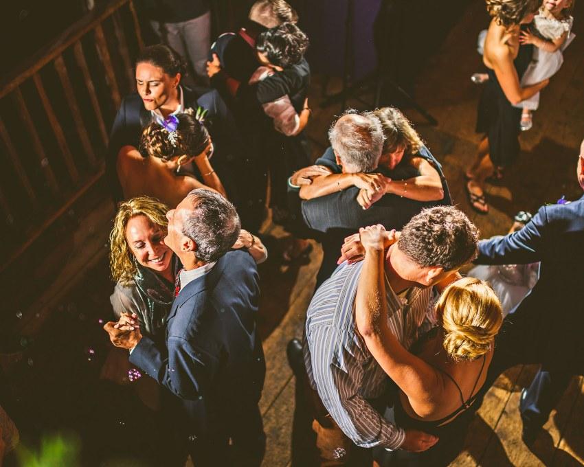 maine barn wedding dancefloor