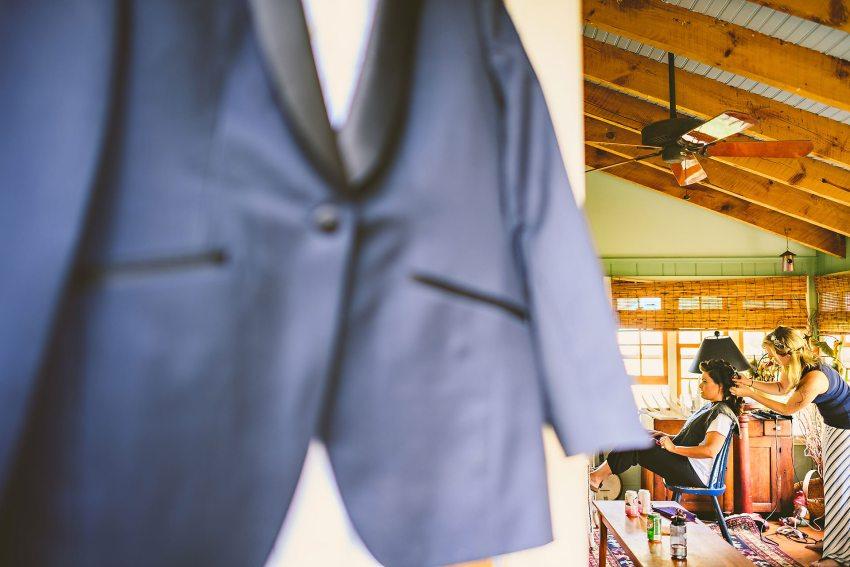 bride with tuxedo