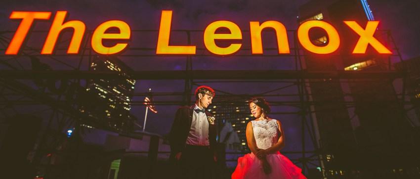 epic lenox hotel wedding portrait