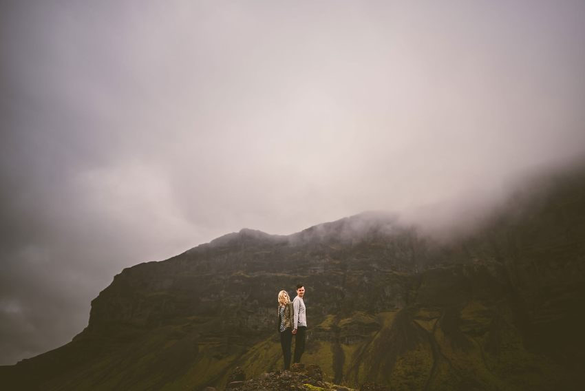 epic engagement adventure in Iceland