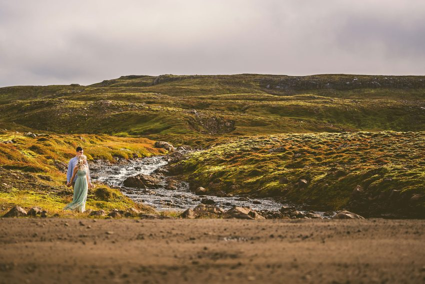 engagement portrait by Iceland river