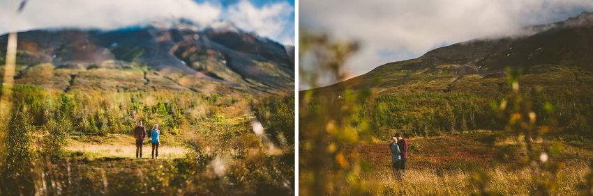 engagement portraits in Iceland during autumn