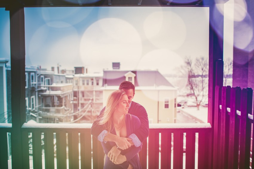 Colorful South Boston engagement photos