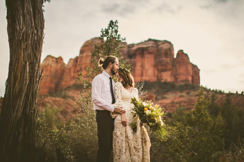 Cathedral Rock elopement