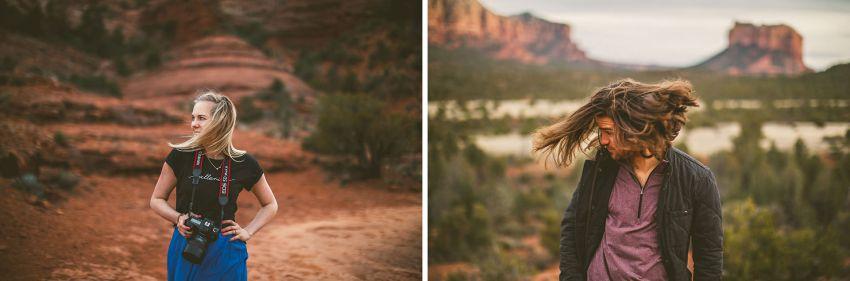 Sedona wedding photographers hair flip