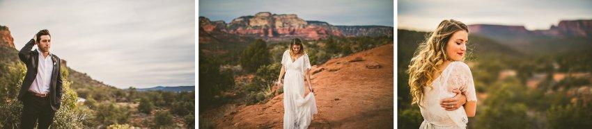 Sedona bride and groom