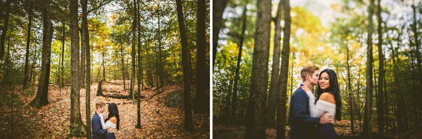 Woodsy engagement session