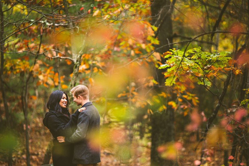 Autumn engagement pictures