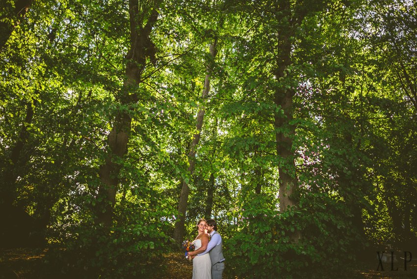 RWU wedding portrait in the woods