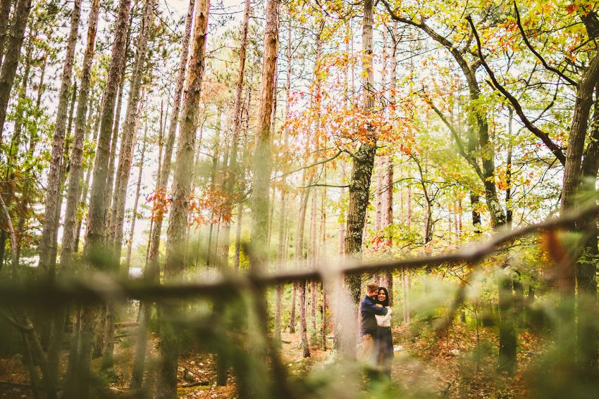 Autumnal engagement session at the fells