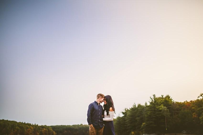 Autumnal engagement portraits