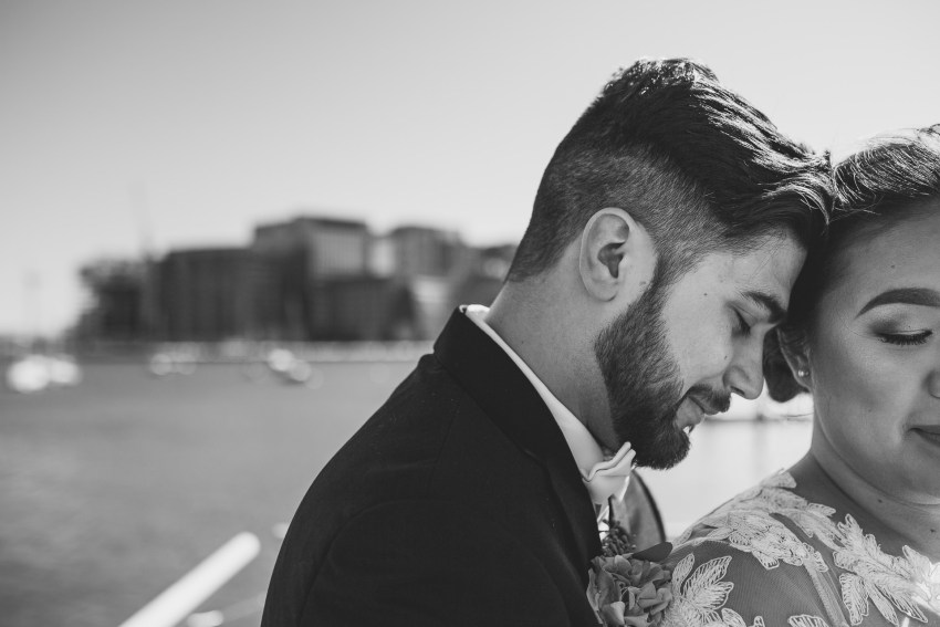 Intimate Boston wedding portrait