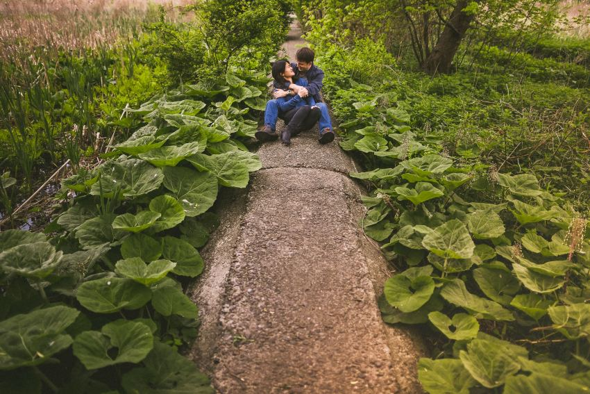 Couple in Arnold Arboretum